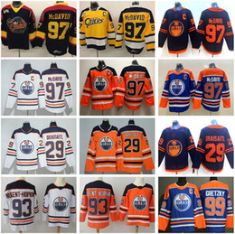 maillots premier Promotion Edmonton Oilers Connor McDavid Jersey 97 Collège loutres Premier OHL Hockey 29 Leon Draisaitl 93 Ryan Nugent-Hopkins Wayne Gretzky Man point