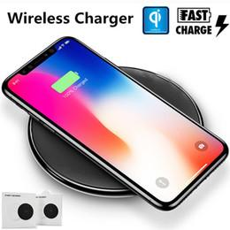 самсунг s6 край плюс телефон Скидка Qi Fast Wireless Зарядное устройство для настольного телефона Зарядка Pad для Samsung Galaxy S8 Plus S7 S6 Edge Plus для iPhone X 8 8 Plus