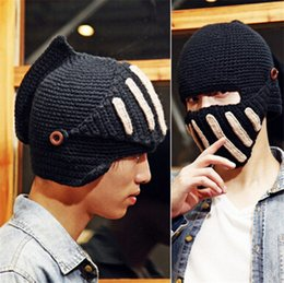boys skull caps NZ - Fashion Men Winter Beanies Mask Hat Warm Knitted Head  Cap For 84fcc2b7fb7c