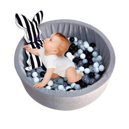 Jouets de clôture en Ligne-Piscine sèche pour bébé escrime tente gris rose bleu ronde piscine ballon Pit Pit parc sans jeu de balle jouets pour enfants cadeau d'anniversaire