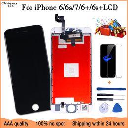 alcatel one touch parts Rebajas Pantalla en blanco 100% OEM para iPhone 6 7 6 Plus 6s Plus Pantalla LCD de repuesto con asamblea digitalizador de pantalla táctil 3D