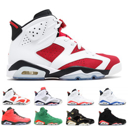 reputable site 71924 c89b7 Nike Air Jordan Retro Top 6 6s Chaussures de basket-ball Carmin Vert  Gedeade UNC Infrared Sport Bleu 2019 Designer 6s Athletics Sneakers