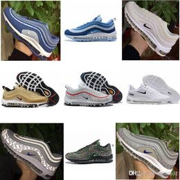2019 nike air max Off white Flyknit Utility vapormax 97 Ultra OG Plus Men Zapatillas de running Run 97S Sports Jogging Walking Blue Hombres Entrenadores Zapatillas deportivas desde fabricantes