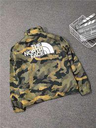 Abrigo de camuflaje impermeable online-19FW El Norte impermeable con capucha Cara Camo cepillado sudadera ropa de moda de la chaqueta capa ocasional al aire libre con capucha de los hombres