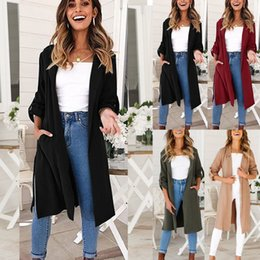 Womens Ladies Long Sleeve Casual Waterfall Coat Jacket Cardigan Overcoat Jumper