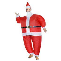 Canada Dress Up 2019 New Santa Claus Cosplay Gonflable Costume Noël Elf Vêtements pour la Fête Cosplay Costumes Jeu cheap elf dress costume Offre