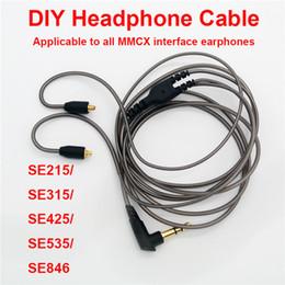 fones de ouvido Desconto DIY MMCX Interface DD Dinâmico de ALTA FIDELIDADE In-ear Fones de Ouvido Mmcx Destacável Cabo para Shure Fone de Ouvido SE215 / SE315 / SE425 / SE535 / SE846 Fone de Ouvido