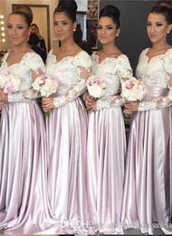 свадебные платья Скидка Линия Дешевые С Длинным Рукавом V Шеи Плюс Размер Румяна Розовый Платья Невесты Длинные Изображения Южная Африка Платья Фрейлины 2019