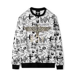 Menino branco londres suéter on-line-Boy London Designer Hoodies Mens de Alta Qualidade Águia Impressão Camisolas de Manga Longa de Luxo Homens Mulheres Casais Pullover Branco