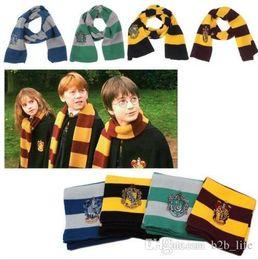 Striped Unisex Harry Potter Scarf Gryffindor Escola Cachecóis Gryffindor Lenços Harry Potter Hufflepuff Cosplay Cachecóis KKA2745 de