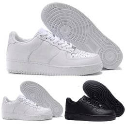 Argentina Nike Air Froce Flyknit 1 One Nuevo diseñador Fuerzas Hombres Mujeres Low Cut One 1 Zapatos Todo Blanco Negro Forzado 1 s Zapatos Classic AF Fly Trainers High Knit Sneaker Suministro