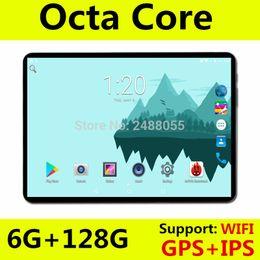 Tablet de 10 polegadas WiFi Octa Núcleo 6GB RAM 64GB 128GB ROM 1280x800 IPS tela Dual SIM Cards Android 8.0 Google 3G 4G LTE FDD Tablet de