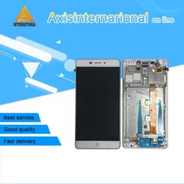 lâmina zte com frete grátis Desconto Axisinternational ZTE V5 Pro N939St / BLADE X9 display LCD + painel de toque digitador com frame Branco / Ouro Frete grátis