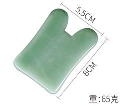 Jade de chifre on-line-AK-12Natural Dongling jade placa raspagem pequenos golfinhos conjunto completo raspagem rosto vara resina chifre pó facial beleza cristal massagem
