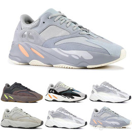 flat rhinestones Coupons - 700 Runner 2019 New Kanye West Mauve Wave Mens Women Athletic Best Quality 700s Sports Running Shoes Sneakers Designer Shoes With Box
