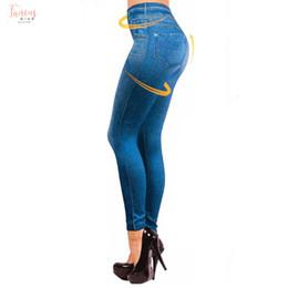 2019 arte sexy ofegante -Xxl Mulheres com forro de lã de inverno Jegging Jeans macio Magro Moda Leggings Jeggings 2 bolsos reais Calças da mulher da aptidão