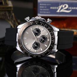 Relogios de luxo on-line-Moda mens de luxo relógios marca Top cronômetro 42mm discar todos sub-dials relógio de trabalho para os homens dos Namorados Presente Relógios de Pulso dropshipping
