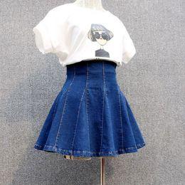 2019 schule sexy s Denim Womens Sexy Plissee koreanischen Stil weiblichen Rock Schule hohe Taille Tutu Mini Röcke kurze Jeans Saia Jupe Femme Q190521 günstig schule sexy s