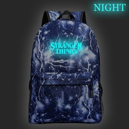 school bag teens Promo Codes - Beautiful Stranger Things Luminous Backpack Boys Girls School Bag Fashion New Pattern Teens Rucksack Men Women Travel Bags