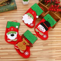 Calza di Natale Mini calza Babbo Natale Pupazzo di neve Caramella Sacchetto regalo Albero di natale Appeso Decorazioni natalizie per la casa Noel Nuovo da