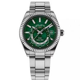 Calendario meccanico della luna online-Orologi di design di lusso che vendono orologio meccanico automatico da uomo 42mm orologio Sky-Dweller orologio da 30 m impermeabile con funzione lunare luminosa
