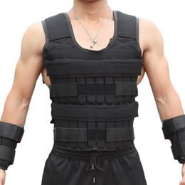 2019 braccio luminoso del braccio del braccio 15 / 35KG carico del peso della camicia per la boxe pesi allenamento Fitness Gym Equipment regolabile Giacca Gilet Sand Abbigliamento