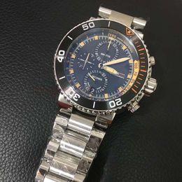 Mejor reloj de la banda deportiva online-2019 la mejor calidad Ori vk reloj de cuarzo hombres dial negro función completa inoxidables banda reloj deportivo envío gratis