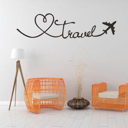 Canada Stickers muraux Voyage Citation sur le thème Mots Sticker mural DIY Autocollant Amovible Amovible PVC Home Decor Autocollants Offre