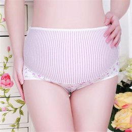 5b9031032d 1PCS L-XXL Pregnancy Maternity Clothes Cotton Women Pregnant Stripe Underwear  Panties Seamless Soft Care Underwear Clothes S20 F