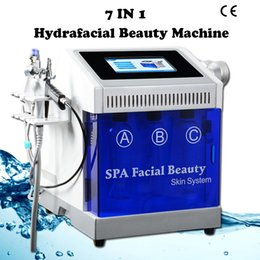 2019 máquina de jato o2 Rosto de limpeza portátil RF Hidro Dermoabrasão Máquina de Descascar Jato De Oxigênio Da Água O2 Peel Equipamentos de Beleza Para Uso Doméstico máquina de jato o2 barato