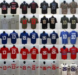 d478d6335 New York Giants Football 26 Saquon Barkley Jersey Uomo 10 Eli Manning 13 Odell  Beckham Jr 21 Landon Collins Vapor Untouchable Uniform
