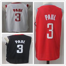 e02da645b6a 3 Chris Rockets Paul Camisetas de baloncesto para hombre 2019 Nueva  temporada Versión de jugador de moda Camisa polo para hombre blanco negro  rojo Hombres ...