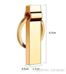 Großhandel GOLDEN COLOR Genuine DZ 3.0 Schlüsselanhänger Design Mini Metall wasserdicht USB-Stick Pen Drive E266 von Fabrikanten
