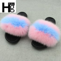 HEE GRAND Fur Slippers Winter Woman Solid Shoes Casual Beach Faux Fur Basic Outdoor  Ladies Like Slip On Plus Size 36-45 XWT1479 01a8d6a000c3