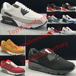 scarpe da corsa traspiranti Sconti Classic Air Max 90 Men women Running Shoes Fashion Men Sneakers Shoes Sports Trainer Cushion 90 Surface Breathable Sports Shoes