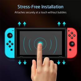 Interruptor de protetor de tela para Nintendo interruptor da tela de vidro temperado Saver Protector Film com Transparente HD claro anti-riscos de