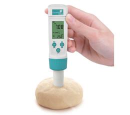 Double compteur de température en Ligne-Testeur de type acidomètre de type stylo testeur de température de la pâte numérique double affichage Précision: -2.00 ~ 16.00pH: + -0.01pH haute qualité