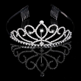 Ювелирные аксессуары онлайн-Bridal Tiaras Crowns With Rhinestones Bridal Jewelry pageant 2019 Evening Prom Party Performance Pageant Crystal Wedding Tiaras Accessories
