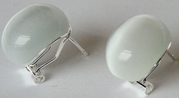 2019 joyas de gemas nobles noble Plata 925 18mm blanco opl Stud Errings Gota de agua gema de circón Onxy stone 925 silver Fine Jewelry rebajas joyas de gemas nobles