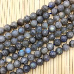 cuentas de labradorita Rebajas piedra labradorita perlas Beadztalk Natural Labradorita Cuentas de piedra redonda y lisa Sólido Color Azul Brillante 6 8 10 mm 12 mm