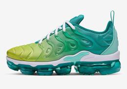 scarpe da tennis rosa verde Sconti 2019 TN Plus Cuscino atmosferico Mens Designer Scarpe Splash Green Grey Sky Blue Orange Pink Violet Donna Uomo Scarpe da Running 36-45