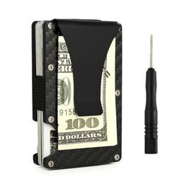 kohlenstoff-brieftasche Rabatt Anti Protect Blocking Rfid Wallet Metal Carbon Tragbarer Kreditkarteninhaber ID Karteninhaber Männer Frauen Porte Carte Travel Case # 124833