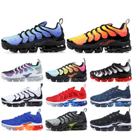sports shoes d695d 2ff75 Nike Vapormax Plus TN Designer Men Women Sneakers Hyper Blue Sunset Game  Royal Ultra White Black Best TN Trainers Sport Running Shoes 5-11
