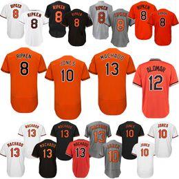 1abf14e4f4a Baltimore Baseball Jerseys Oriol Alomar 12 Roberto Machado 13 Manny Jones  10 Adam Cal 8 Ripken Jr. Embroidery boutique
