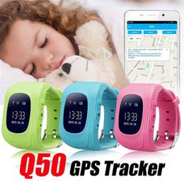 Orologio del cercatore di posizione di gps online-Q50 intelligente Guarda LCD Tracker GPS per bambini Kid SOS Chiamata sicura Posizione Trova localizzatore Tracker smartwatch per Bambini Bambini Anti perso Monitor