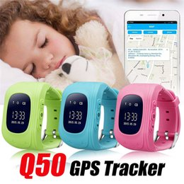Gps location finder watch online-Q50 Smart Watch LCD GPS-Tracker für Kind Kind SOS Safe Call Location Finder Locator Tracker Smartwatch für Kinder Kinder Anti Lost Monitor