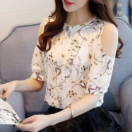 51f0eb4df87bc womens chiffon floral blouses 2019 - 2019 Chiffon Print Blusas Floral Shirt  For Womens Elegant Open Find Similar. 51