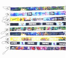 Lanyard designs online-Fortnite Halskette Lanyard ID Badge Schlüsselhalterkette BATTLE ROYALE Gamer Zubehör Hotselling 9 Designs