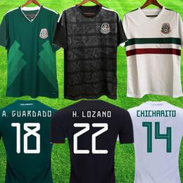 Mexico Copa Oro 2019 Camisetas México 19 20 HOMBRE MUJER camiseta de fútbol 2018 CHICHARITO LOZANO MARQUEZ DOS SANTOS camiseta de fútbol de niñas camisa de futbol desde fabricantes
