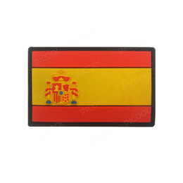 2020 bandiere spagnole Bandiera Spagna 3D PVC Bandiera spagnola Patch Patch tattica militare Morale Gomma Biker Hook Patch posteriori per abbigliamento Zaini Cappellini sconti bandiere spagnole